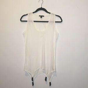 Kiki se Montparnasse White Cotton Suspender Top L